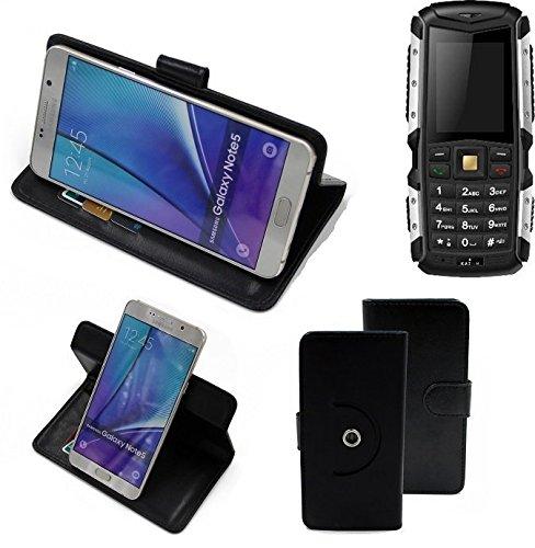 K-S-Trade® Case Schutz Hülle Für Jiayu F2 Handyhülle Flipcase Smartphone Cover Handy Schutz Tasche Bookstyle Walletcase Schwarz (1x)