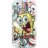 [Ashley Cases] TPU Clear Skin Cover Case for Apple iPhone 6 (4.7') - Sponge Bob Friends