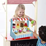 Childs Wooden Ice Cream Shop Lolli Stand Pretend Play Food Set Toy