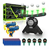 BFUNTOYS Shooting Target Glow in The Dark for Kids – Compatible with Nerf Gun, Shooting Practice Toys for Boys, with 2 Take Apart Toy Guns, 50 Foam Darts, 10 Floating Ball, 5 Targets and 2 Wrist Band