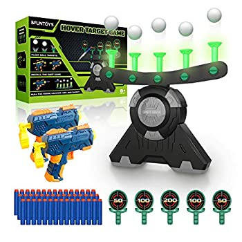 BFUNTOYS Shooting Target Glow in The Dark for Kids – Compatible with Nerf Gun Shooting Practice Toys for Boys with 2 Take Apart Toy Guns 50 Foam Darts 10 Floating Ball 5 Targets and 2 Wrist Band
