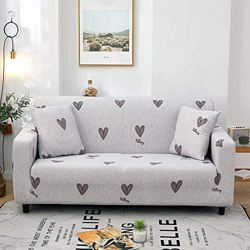 Funda de sofá elástica 2 plazas y 3 plazas, Funda de sofá de Esquina Completa Universal Fundas de sofá elásticas para Sala de Estar, Funda de sillón Antideslizante Sofás Chaise F