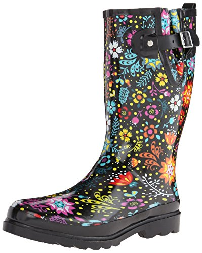 Western Chief Women's Rain Boot's Printed Tall, Garden Play, 8 M US