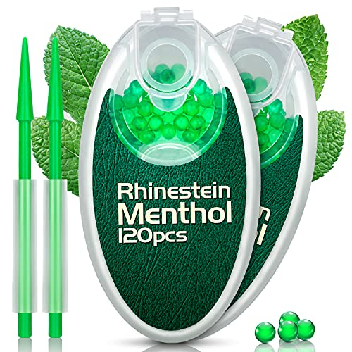 Menthol Kugeln 240er Aroma Kapseln mit Filterstab Aromatische Perlen Kugel Kapsel Flavor Ball mit DIY Zigarette Klickfilter (Menthol, 240)