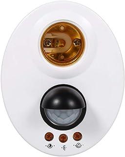 Bombillas LED E27 Base, bulbo Sensor infrarrojo IR Luz de pared automática Porta lámparas Socket PIR Detector de movimiento AC110V -250V