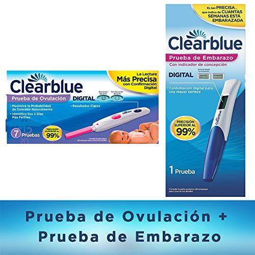 Clearblue Prueba Ovulación + Clear Blue Prueba De Embarazo Digital
