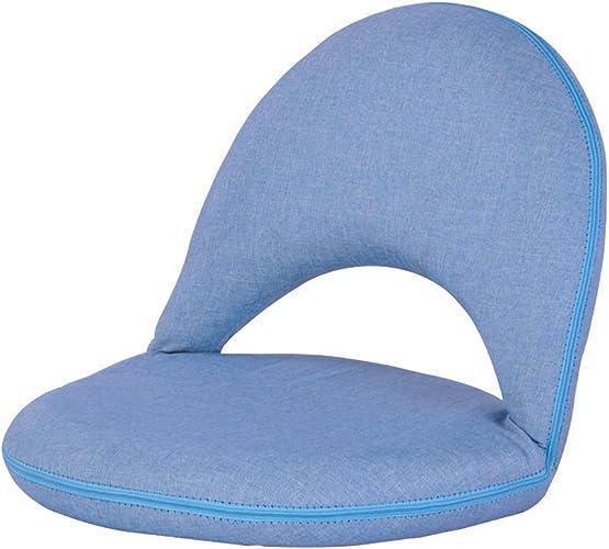WZLDP Sofa Paresseux canapé Pliable Hiver et été canapé à Usage créatif à Double Usage canapé-lit Loisirs Chaise Chaise de Salle à Manger (Couleur   bleu)