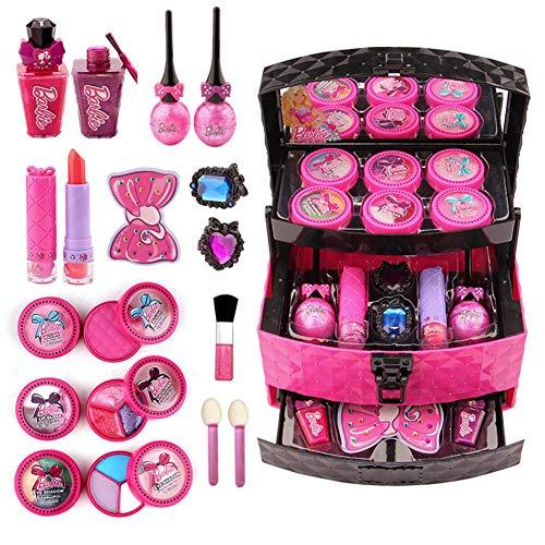 Biggystar Kinderkosmetik Set Palette Lippenstift Make-up Box Spielhaus Spielzeug