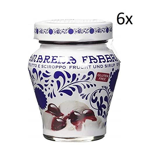 6x Fabbri Amarena Obst Und Sirup Kirschen in Siurp Amarena Fabbri 230g