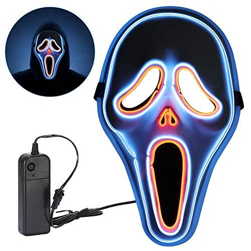 Máscara de Halloween,LED Máscaras Purga Grimace Mask Horror Halloween con 3 Modos para Fiesta de Disfraces la Navidad Grimace Fiesta