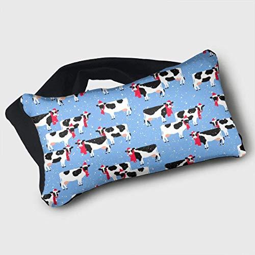 Multi-Purpose Eye Kussen Nek Kussen Kerst Koeien Draagbare 2-in-1 Gratis Oogmasker Voyage Kussens voor Mannen Vrouwen Kinderen
