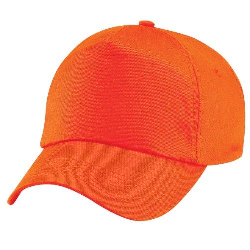 Beechfield - Cappellino 100% Cotone - Unisex (Taglia unica) (Arancio)