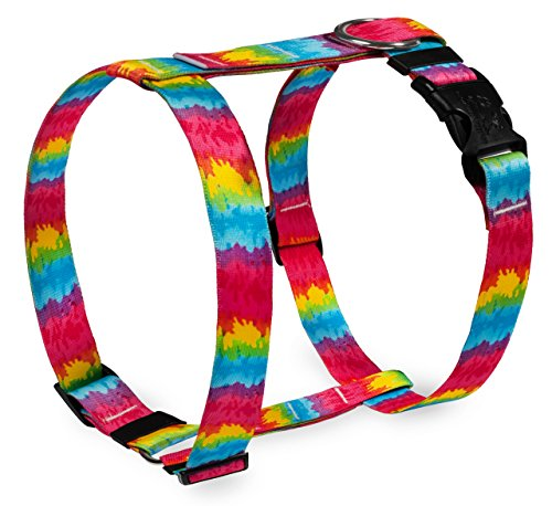 Yellow Dog Design Tie-Dye Roman Style H Dog Harness-Small/Medium-3/4 and fits Chest 14 to 20