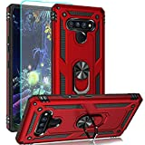LG Stylo 6 Case,LG Stylo 6 Phone Case,LG K71 Case,EVB Case with Screen Protector [Shockproof] Tough Rugged Dual Layer Protective Case with 360°Rotating Ring Kickstand Phone Cover for LG Stylo 6 (Red)