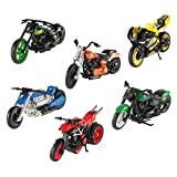 Hot Wheels Street Power Collectible Motorcycle - Complete Set of 6 ~ X-Blade, Fat Ride, Ferenzo, Thunder Chopper, Twin Flame Cruiser and Light Frame