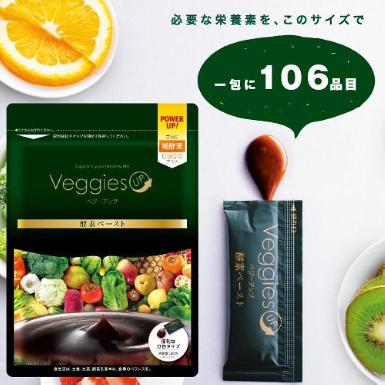 軍艦宴会でもベジーアップ酵素ペースト 90g [3g×30包] ダイエット オリゴ糖 イヌリン コエンザイムQ10 黒ウコン 健康