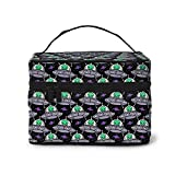 Alien Backgrounds Bolsa de cosméticos, bolsa de maquillaje, bolsas de viaje portátiles para mujeres, organizador de maquillaje con cremallera, estuche de accesorios, estuche de herramientas