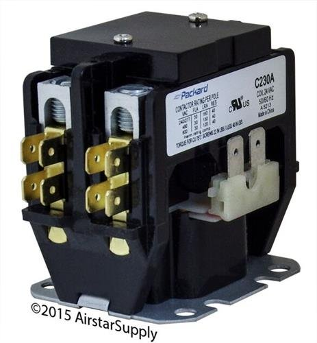 Ducane • 30 Amp 2 Pole 24v Coil Packard Replacement Contactor C230A