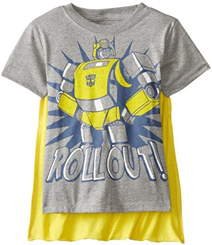 Transformers Little Boys Toddler Bumblebee Roll Out Cape T Shirt Grey 2T product image