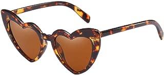 Xinvision Classic Cat Eye Retro Style Love Heart Shaped Sunglasses Goggle Stylish UV Protection Polarized Spectacles Glasses