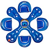 BRING THE PARTY TO YOUR POOL: The RAVE Sports Ahh-Qua Bar is an inflatable floating party for your pool or lake cabin. Add one to your pool or lakefront for an instant party center! UNIQUE DESIGN: The center piece features 12 drink holders and an anc...