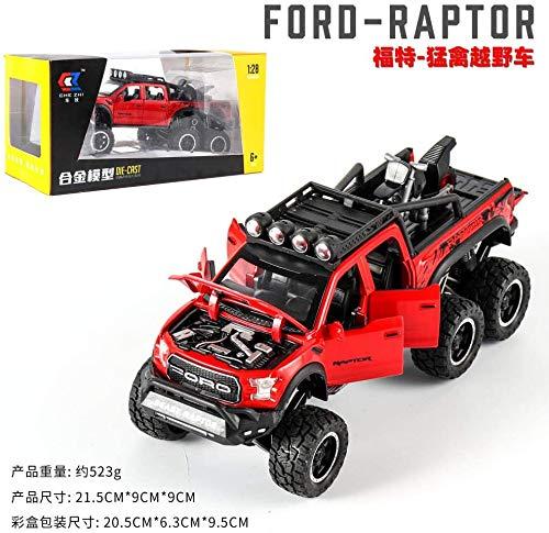 Model auto 01:32 simulatie Ford Raptor F150 kinderen simulatie legering model auto off-road voertuig model for geschenken-CZ141R met doos dljyy