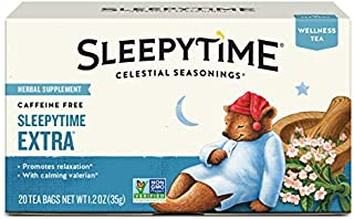 Celestial Seasonings Wellness Tea, Sleepytime Extra, 20 Count (Pack of 6)