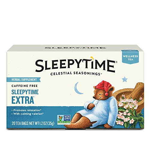 Celestial Seasonings Wellness Tea, Sleepytime Extra, 20 Count Box (Pack of 6)