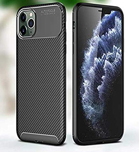 HELLOYOUNG Carbon Fiber Case For iPhone 12 Pro MAX Case Mini SE 2020 11 X XR XS 8 7 6 Cover Soft Phone Bumper For Apple iPhone 12 Pro Funda (Blue)