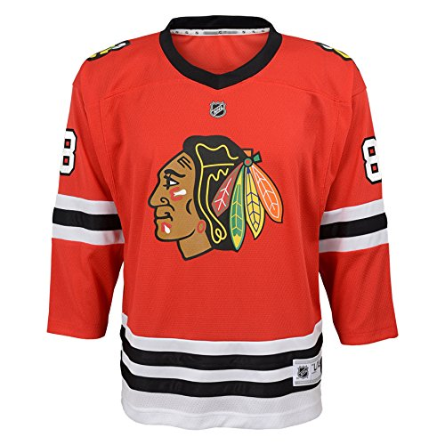 Outerstuff Youth NHL Replica Home-Team Jersey Chicago Blackhawks Patrick Kane, Team Color, Large (12-14)