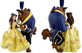 2016 Disney Parks Beauty and the Beast -Princess Belle and Beast Ornament - New