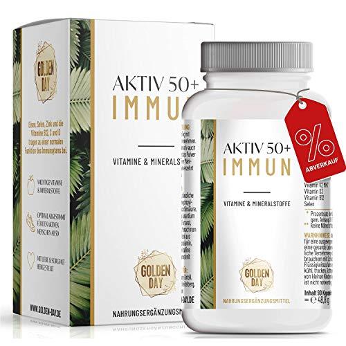 Multivitamin Kapseln für Erwachsene - 90 Immunsystem Kapseln für 3 Monate - Mit Vitamin C, Calcium, Zink, Selen, Eisen & Vitamine E, D, B12, K2