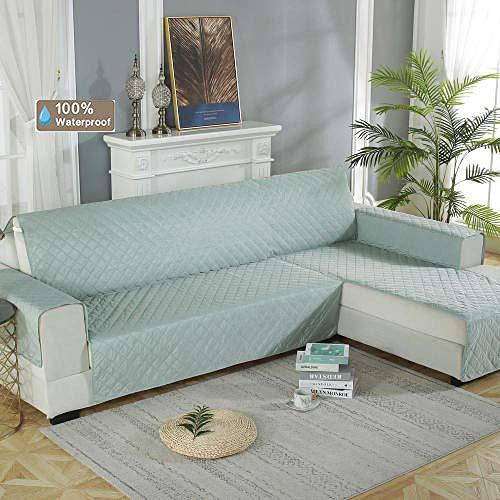 Hybad bankovertrek voor Living Room,Sofa Slipcover,Pet Sectional Sofa shield,100% waterdichte beschermhoes voor gecombineerde sofa,links/rechts chaise sofa kussens