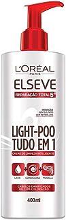 Creme de Limpeza Light Poo Elseve Reparação Total 5+ Elseve 400 ml, L'Oréal Paris