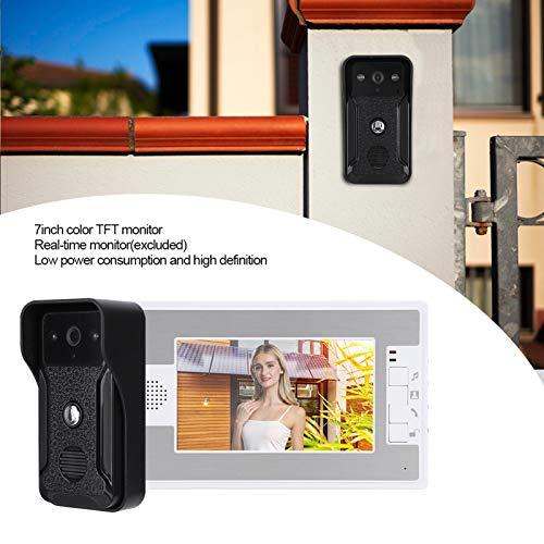 Videoportero para Sistema de Portero automático, para Monitor TFT de 7 Pulgadas, para Seguridad en el hogar(Transl)