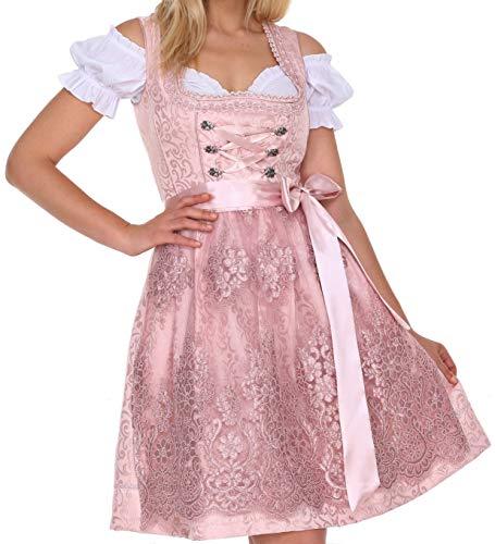Lifos 0220 Dirndl Germandress 3Tlg. Oktoberfest Gr.34 bis 52 !ORIGINAL (Rosa, 36)