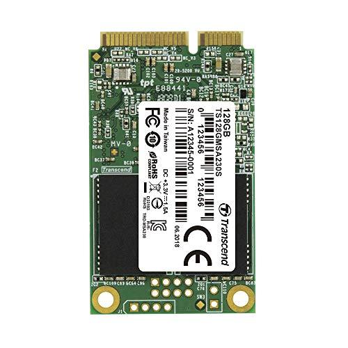 Transcend Highspeed 128GB interne mSATA SSD SATA III (6Gb/s), zum Aufrüsten von Ultrabooks, Tablets oder Slim Servern, schnelle Übertragung TS128GMSA230S