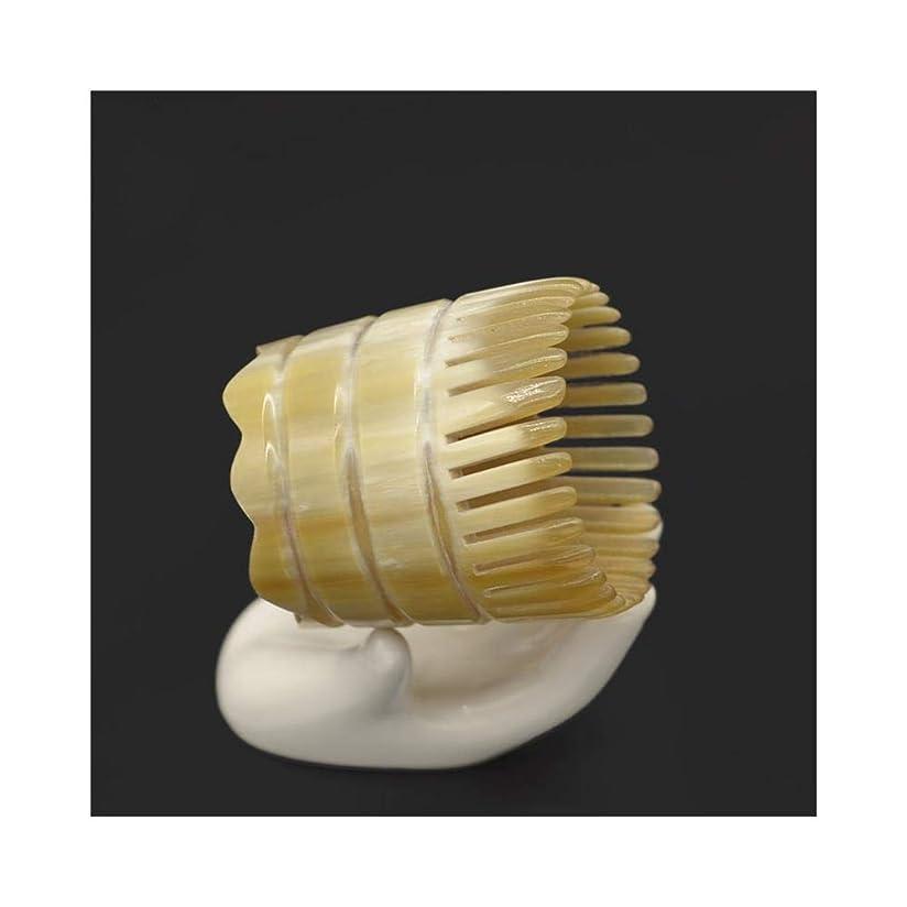 救い必要条件小切手WASAIO 頭皮マッサージはありません静的手作りのための自然木製ヤクホーンくしDetangleコームズメンズ?レディース?ヘアーブラシセットパドル (色 : B)