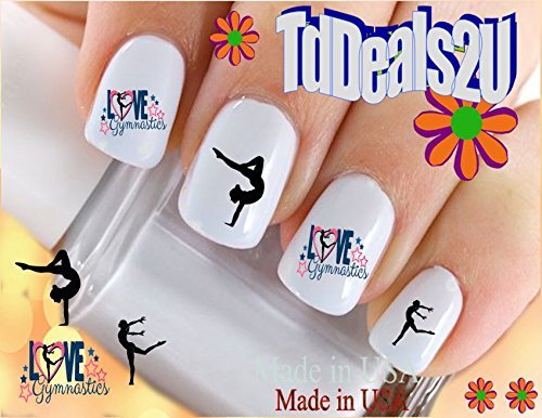 Sports - Gymnastics #2 Love Gymnastics Nail Decals - WaterSlide Nail Art Decals