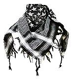 Premium Star Pattern Shemagh Head Neck Scarf - Black/Grey