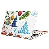 igsticker Macbook Pro 13inch 2020/19/18/17/16 専用スキンシール A1989 / A1706 / A1708 マックブック プロ 13インチ 専用シール フィルム ステッカー アクセサリー 保護 009974 クリスマス 飾り カラフル