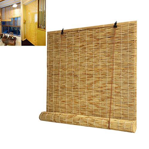 Fvfk Bambusrollos, Natürliche Lamellenrollos, Sichtschutzrollos, Sonnenschutzvorhänge - Vorhänge, Terrassen- / Fenster- / Wanddekoration