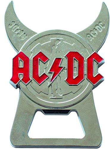 AC/DC Flaschenöffner, Stahl, Silber, 8.5 x 6 x 0.5 cm