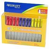 Westcott Kids Blunt Scissors with Storage Rack, 5