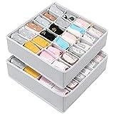 Organizadores de Cajones, 24 Celdas Plegable Cajas de Almacenamiento, Cajas...
