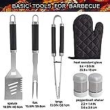 grilljoy 7PCS BBQ Grill-Werkzeug-Satz, Hochleistungs-Edelstahl-Zusätze mit Schutzblech-Speicher-Tasche, komplettes Grill-Ausrüstung für Vati, Geburtstagsgeschenk für Mann im Freien - 2