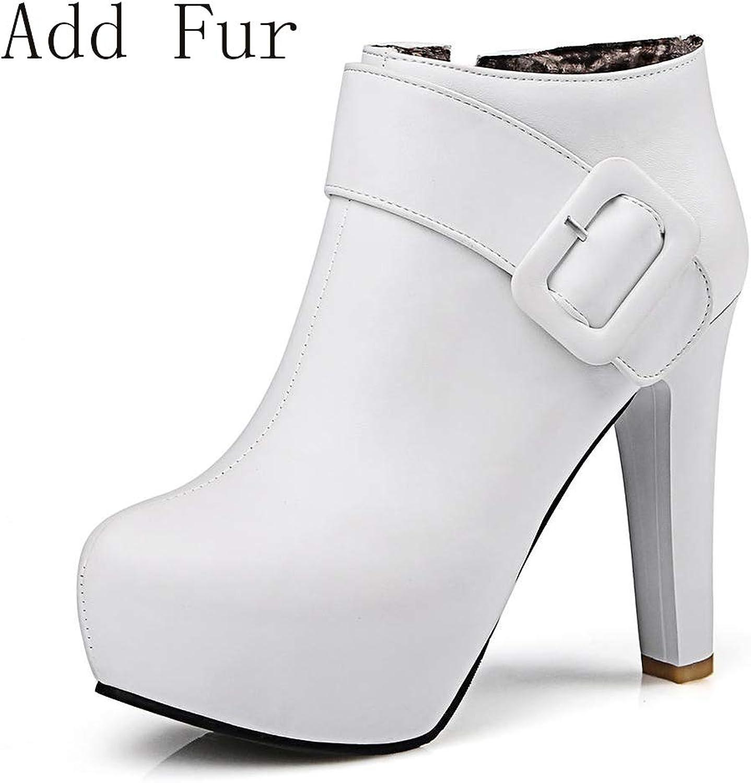 HOESCZS 2018 große große große Größe 32-43 Plattform Frauen Schuhe Frau Stiefeletten Mode High Heels Winter Party Stiefel Frau Schuhe,  5e6b2d