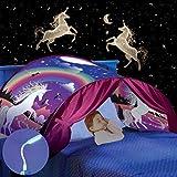 Carpa de Niños Carpa de Cama Carpa de Juego Tienda de Ensueño, Fácil Instalación, El Mundo Mágico Que Les Gusta a Los Niño (a-Unicornio)