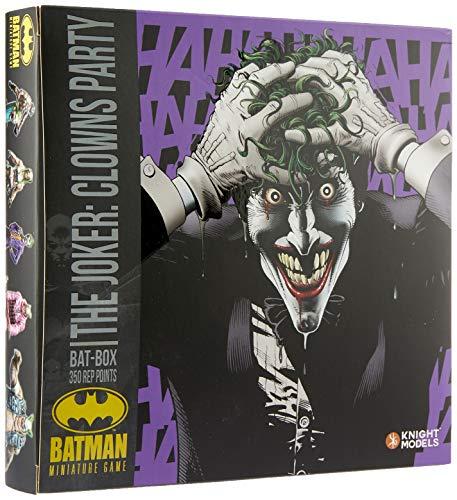 Knight Models Juego de Mesa - Miniaturas Resina DC Comics Superheroe - Batman Game Bat-Box The Joker Clowns Party