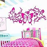 sanzangtang Papillon Autocollant De Mode Décor À La Maison Style Nordique Décor de La Maison Décor de Chambre à Coucher Vinyle Art Decal 30X14cm
